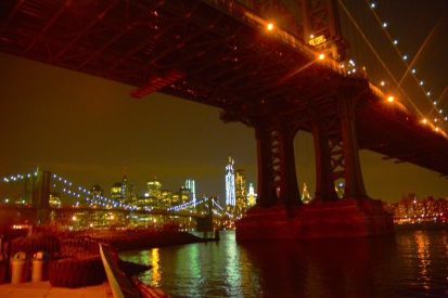 Dumbo e il Brooklyn Bridge, New York.