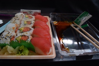 Sushi take away at Dean and Deluca, NYC.