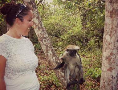Io e la scimmia a Zanzibar.