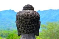 Vista mozzafiato in cima a Borobudur