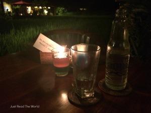 Ristorante ad Ubud con vista sulle risaie