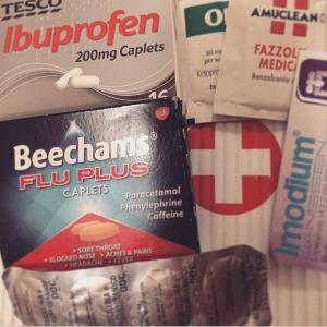 La mia personale farmacia da viaggio